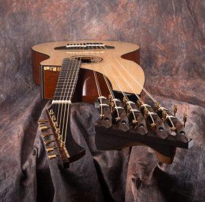 Matsuda 115. 16 strings harp guitar.